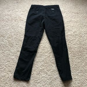 Banana Republic Pants - Banana Republic Aiden Fit 100% Cotton Black Chinos